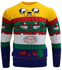 Adventure Time Finn & Jake Xmas Pullover