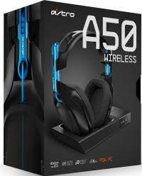 Astro Gaming A50 (2016/GEN3) Wireless Dolby 7.1 Headset Black/Blue inkl. MixAmp PS4, PS3, PC, MAC (PS4)