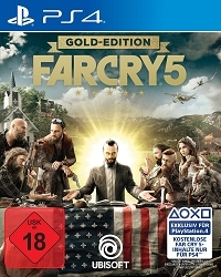 Far Cry 5 Limited Gold Edition USK uncut inkl. 10 Bonus DLCs + Far Cry 3 Remastered (PS4)