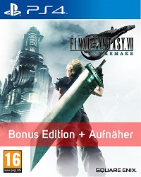 Final Fantasy VII Remake (Final Fantasy 7) Bonus DLC Edition + Aufnäher (PS4)