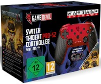 GameDevil Switch Trident PRO-S2 Wireless Controller (Rot) Tiny Troopers XL Limited Bundle (Nintendo Switch)