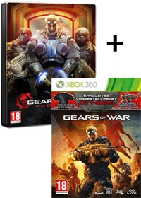 Gears of War: Judgment Steelbook Edition uncut inkl. Bonus DLC Doublepack & T-Shirt (Xbox360)