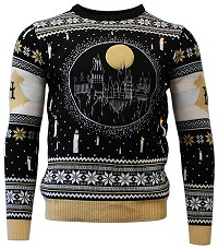Harry Potter Hogwarts Castle Candle Lights Xmas Pullover (M) (Merchandise)