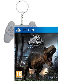 Jurassic World Evolution PEGI uncut Bonus Edition inkl. PSX Retro Schlüsselanhänger (PS4)