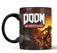 Official DOOM Metal Badge Heat Changing Tasse (Merchandise)