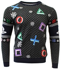 PlayStation Symbols Black Xmas Pullover (M) (Merchandise)