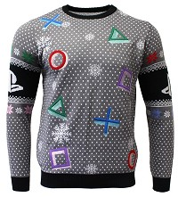 PlayStation Symbols Grey Xmas Pullover (L) (Merchandise)