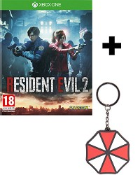 Resident Evil 2 Remake HD uncut + Umbrella Keychain (Xbox One)