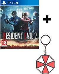 Resident Evil 2 Remake HD uncut Early Delivery Edition + Umbrella Keychain (PS4)