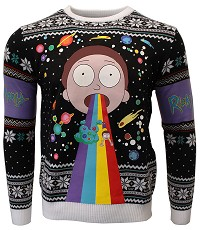 Rick & Morty Rainbow Xmas Pullover (L) (Merchandise)