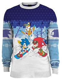 Sonic the Hedgehog Skiing Xmas Pullover (L) (Merchandise)
