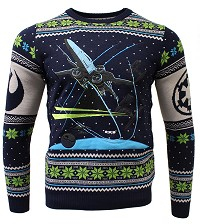 Star Wars X-Wing Battle of Yavin Xmas Pullover (M) (Merchandise)