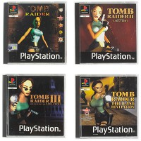 Tomb Raider PS1 Retro Untersetzer 4er-Set (Merchandise)