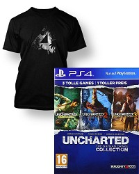 Uncharted: The Nathan Drake Collection 1-3 AT PEGI uncut + Artwork T-Shirt (PS4)