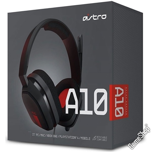 astro gaming a10 headset grey red pc mac ps4 xbox one. Black Bedroom Furniture Sets. Home Design Ideas