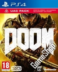 DOOM UAC Pack uncut Edition inkl. Demon Multiplayer Pack - Cover beschädigt (PS4)