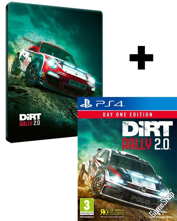 ps4 dirt rally 2 0 day one steelbook edition inkl. Black Bedroom Furniture Sets. Home Design Ideas