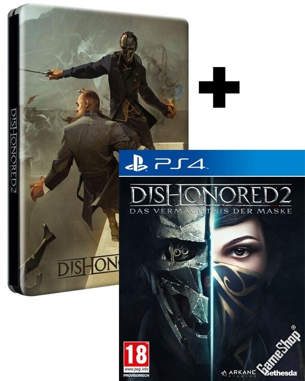dishonored 2 das verm chtnis der maske steelbook edition. Black Bedroom Furniture Sets. Home Design Ideas