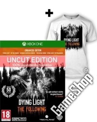 Dying Light Teil 1 + The Following Enhanced AT Edition uncut + T Shirt (L)