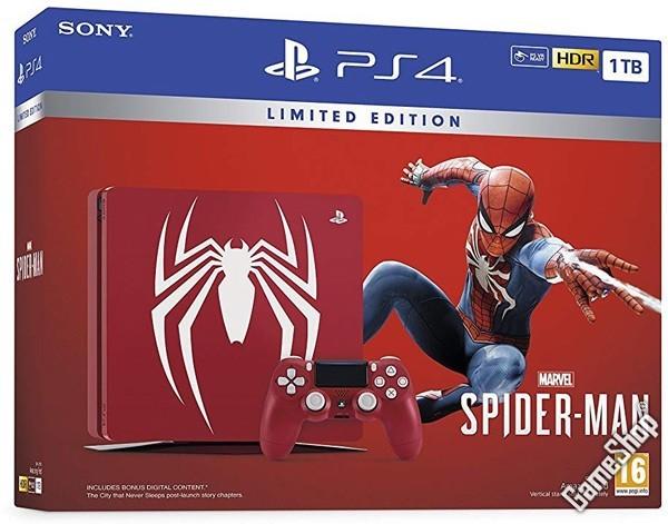 ps4 playstation 4 pro konsole 1 tb spiderman limited. Black Bedroom Furniture Sets. Home Design Ideas