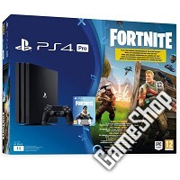 PlayStation 4 Pro Konsole (schwarz) 1TB Fornite Bundle (PS4)