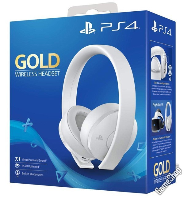 ps4 playstation 4 ps4 wireless 7 1 headset gold. Black Bedroom Furniture Sets. Home Design Ideas