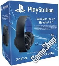PlayStation 4 (PS4) Black Wireless Stereo Headset 2.0