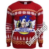 Sonic the Hedgehog Xmas Pullover (XL)