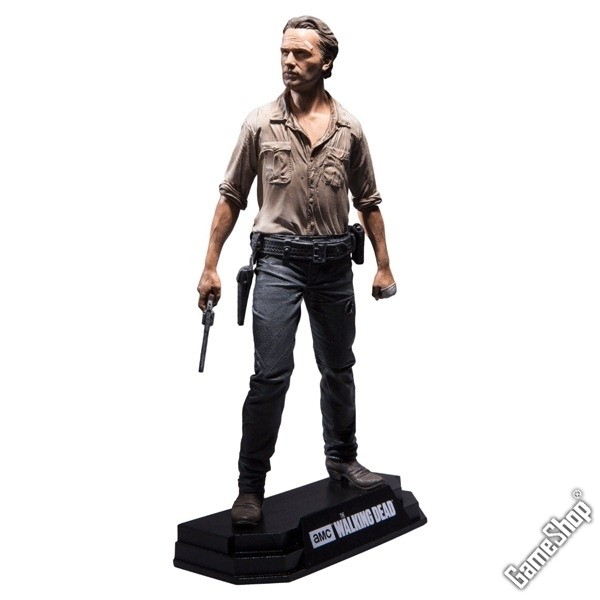 the walking dead rick grimes figur 18 cm merchandise. Black Bedroom Furniture Sets. Home Design Ideas