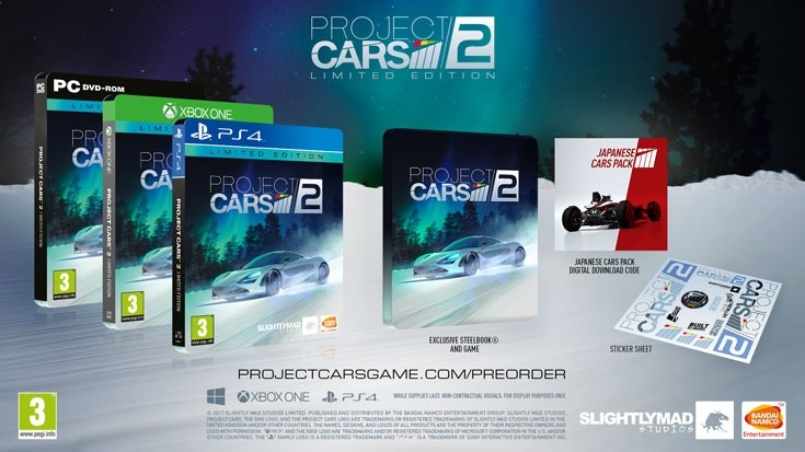 project cars 2 limited steelbook edition xbox one bei kaufen. Black Bedroom Furniture Sets. Home Design Ideas