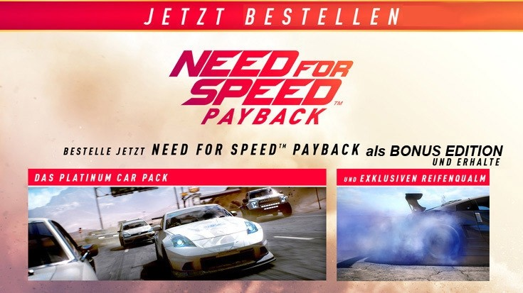 ps4 need for speed payback car pack. Black Bedroom Furniture Sets. Home Design Ideas